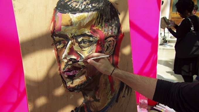 Taro Qureshi Wins Heat 3 of Sky Arts Portrait Artist of the Year