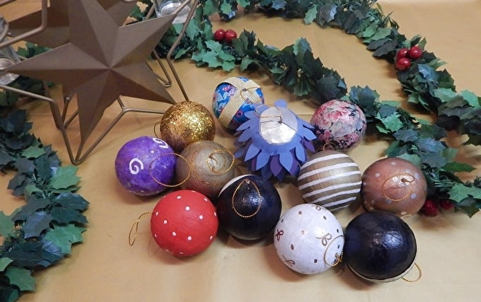 how to make your own craft christmas baubles