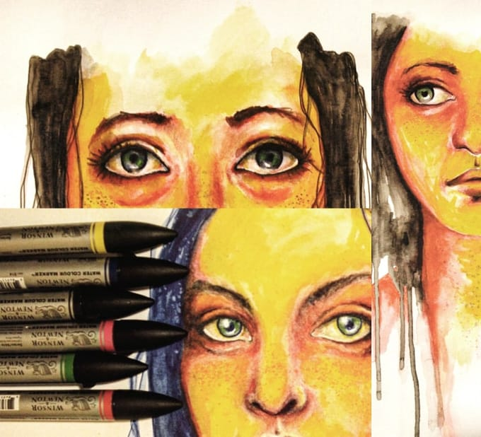 Watercolour Faces in Six Colours & Seven Easy Steps