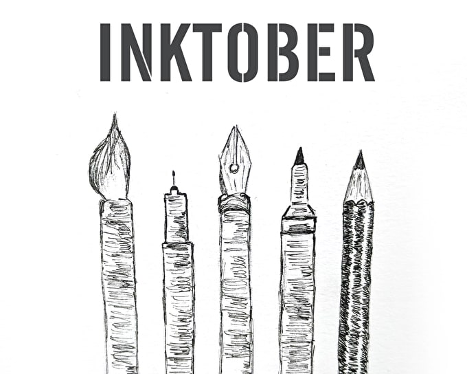 INKTOBER 2018 - JOIN THE DRAWING CHALLENGE!