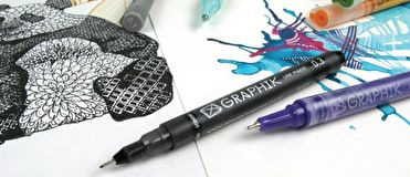 Pens from top brands such as Copic, Promarkers, Derwent and Faber Castell