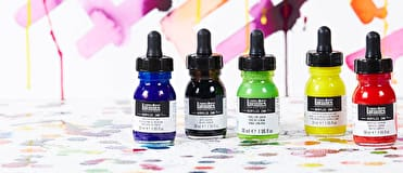 Liquitex Acrylic Inks are liquid acrylic made with lightfast fine art pigments