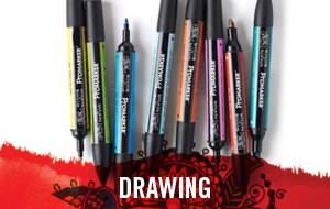 Drawing materials such as pencils, pens and markers available at the best prices in our sale.