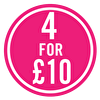SALE - 4 for £10