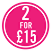 SALE - 2 for £15