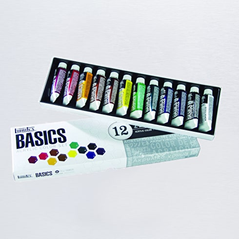 Liquitex Basics Set of 12 22ml Assorted Colours | Acrylic Paint | Art Supplies | Cass Art