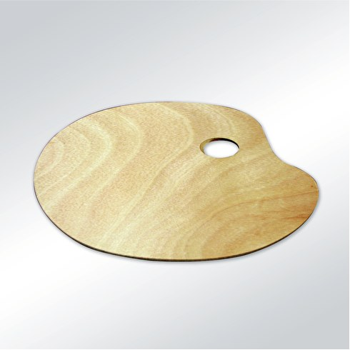Colourfull Arts Wooden Oval Palette Large | Cass Art