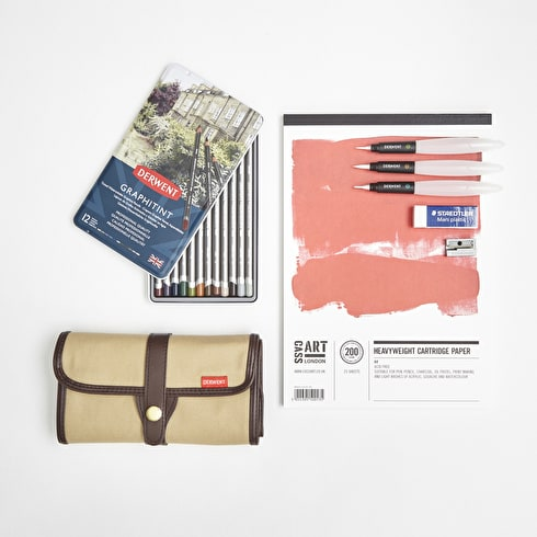 Jake Spicer Drawing Set with Pencils, Paper & Accessories   Cass Art