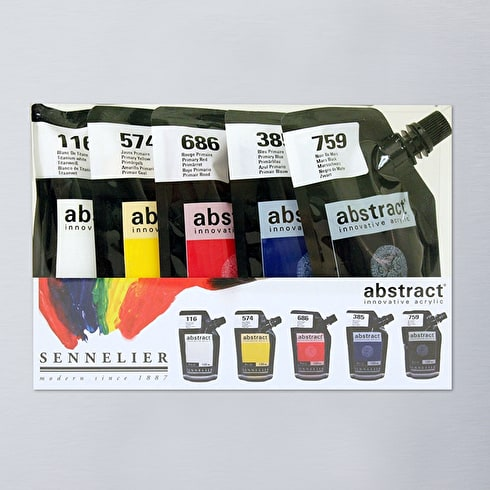 Sennelier Abstract Intro 120ml Assorted Colours Set of 5 | Acrylic Paint | Cass Art