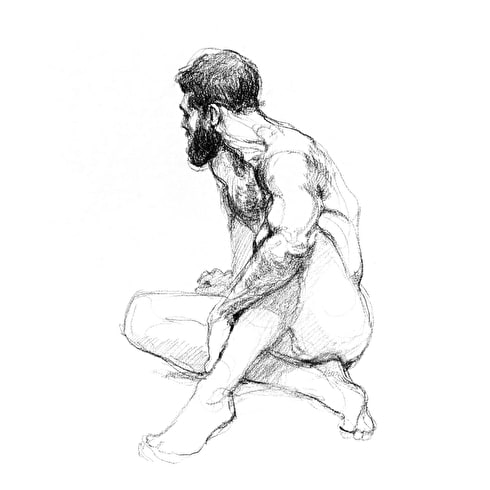 Jake Spicer Life Drawing at Cass Art Islington Tuesday 8th January: Proportion
