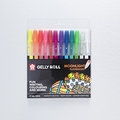 Sakura Gelly Roll Moonlight Fluorescent Set of 12