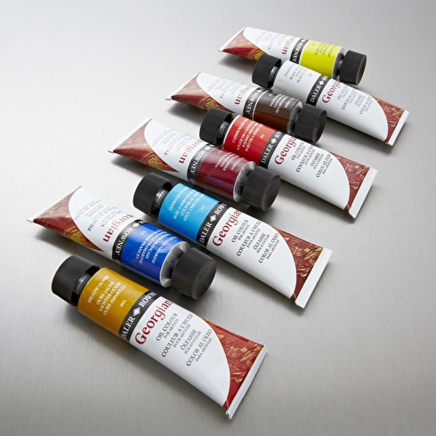 Oil Painting Starter Set with Paint, Brushes, Canvas & Medium