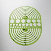 Jakar Circle Radius Master Template 7.47 inches x 9.86 inches