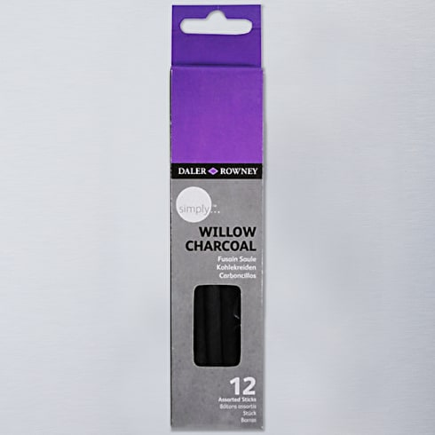 Daler Rowney Simply Willow Charcoal Set of 12 | Cass Art