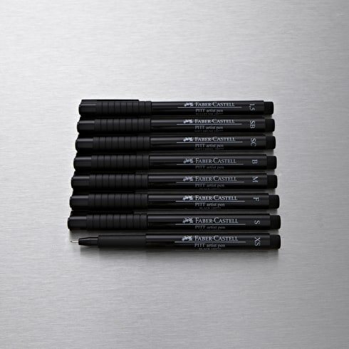 Faber-Castell Pitt Artist Pen Set of 8 Black