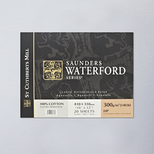 Saunders Waterford Block 300gsm Hot 16 x 12 inches   Bockingford Watercolour Paper   Cass Art