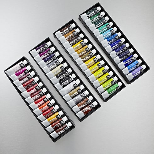 Liquitex Basics Set of 48 22ml | Cass Art | Acrylic Paints