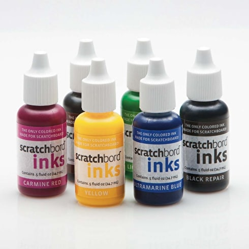 Ampersand Scratchbord Ink 0.5oz Set of 6