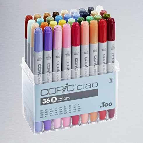 Copic Ciao Set B Assorted Colours Set of 36