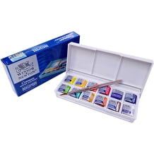 Winsor & Newton Cotman (Including 1 Artist's quality) Watercolour Sketchers Pocket Box of 12 Half Pan