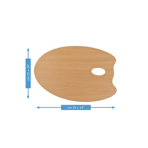 Mabef OVAL Wooden Palette 25x35
