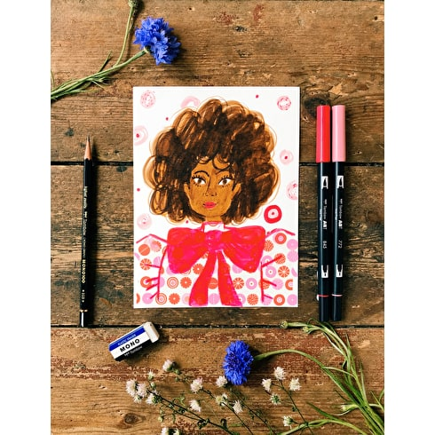 Learn to create portraits with Tombow brush pen and mt tape Cass Art Islington 19th AUG 3.30pm