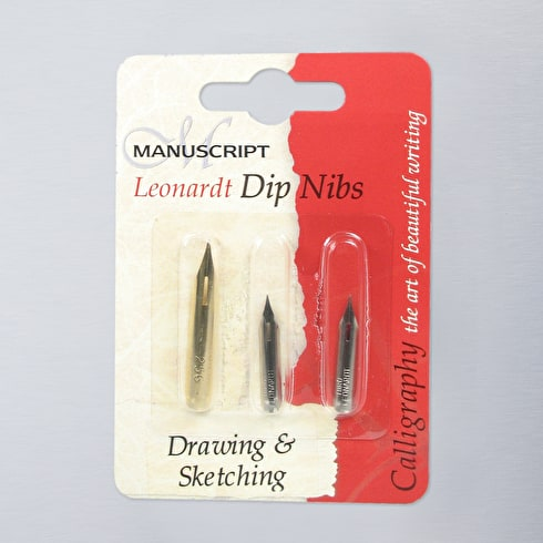 Manuscript Leonardt Drawing & Sketching Dip Pen Nib Set of 3