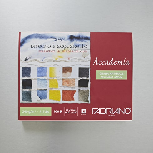Fabriano Accademia Pad 240gsm 100 Sheets | Professional Watercolour Paper | Cass Art