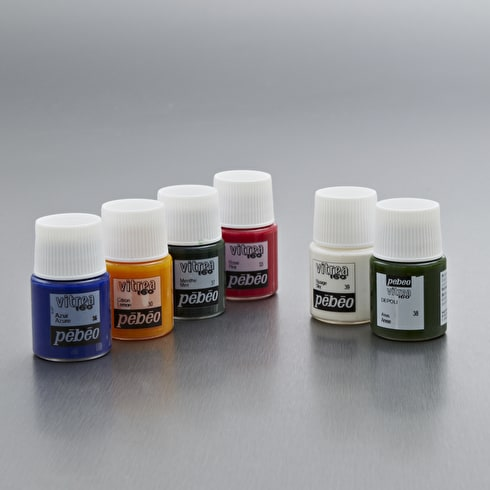 Pebeo Vitrea Glass Paint Discovery Pack of 6 20ml | Cass Art