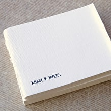 Khadi Bound Page 210gsm Smooth 32 Page 13 x 16cm White
