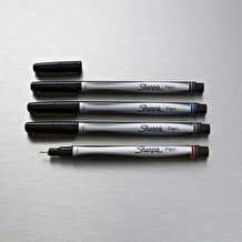 Sharpie Fine Permanent Pen Set of 4 Assorted Colours