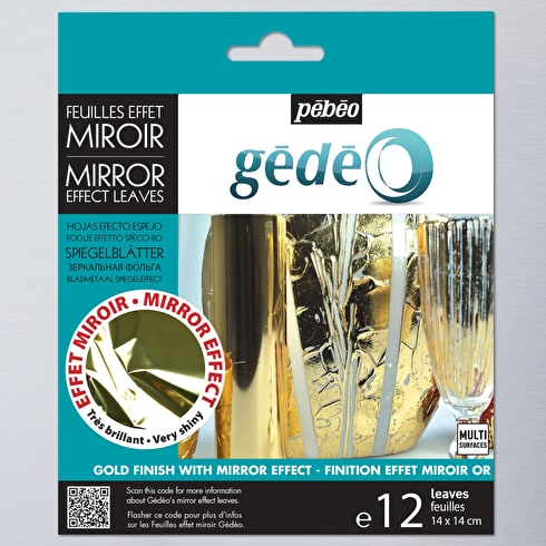 Gedeo Mirror Effect Metal Leaf Pack of 12