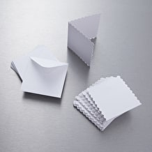 Papermania Scalloped Edge Card & Envelope 3 x 3 inches Pack of 20
