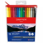 Caran D'ache Fibralo Brush Assorted Colours Set of 15