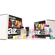 Golden A-Z Acrylic Box set of 14