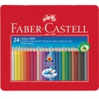Faber-Castell Grip 2001 Pencil Tin Set of 24 Assorted Colours