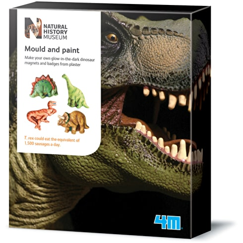 4M Natural History Museum Mould & Paint Glow Dinosaur