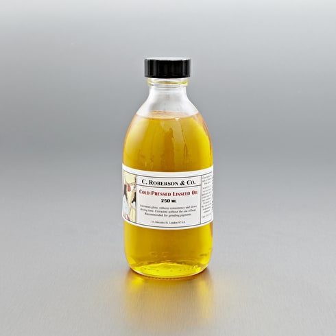 C Roberson Cold Pressed Linseed Oil 250ml | Artist Linseed OIl | Cass Art