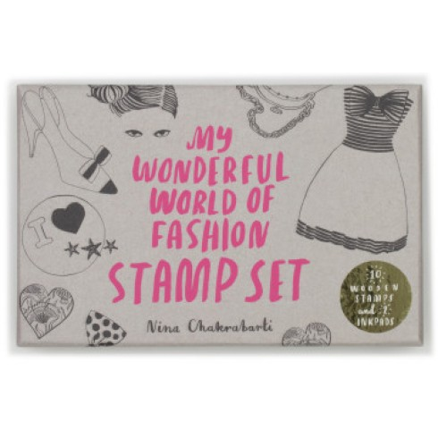 Laurence King My Wonderful World of Fashion Stamp Set