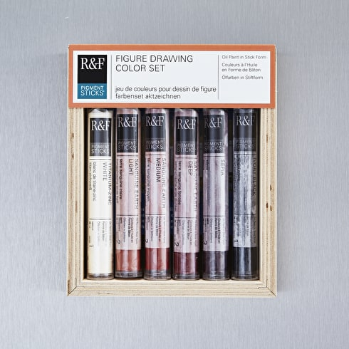 R&F Pigment Stick Figure Drawing 38ml Assorted Colours Set of 6