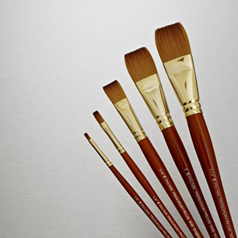 Pro Arte Prolene Plus Synthetic Brush Flat | Artist Brushes | Cass Art