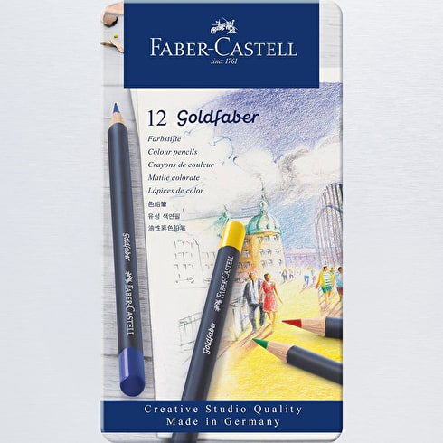 Faber-Castell Goldfaber Colour Pencils Set of 12 | Cass Art