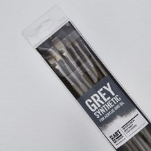Cass Art Grey Synthetic Brushes for Acrylic & Oil Set of 6