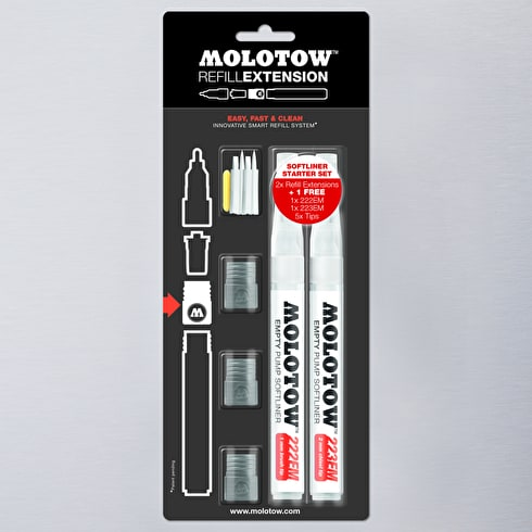 Molotow Softliner Refill Extension Starter Set 1mm