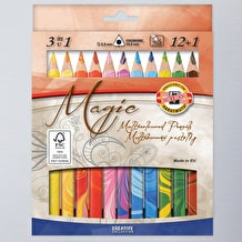 Koh-i-noor Jumbo Triangular Coloured MAGIC Pencils Set of 13