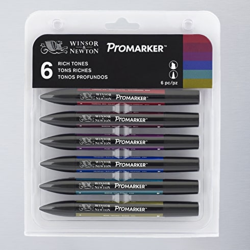 Winsor & Newton ProMarker Rich Tones Set of 6