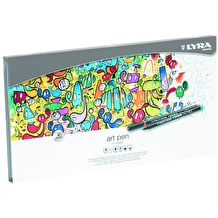 Lyra Art Pen Fibre Tip Pen Metal Tin Set of 50