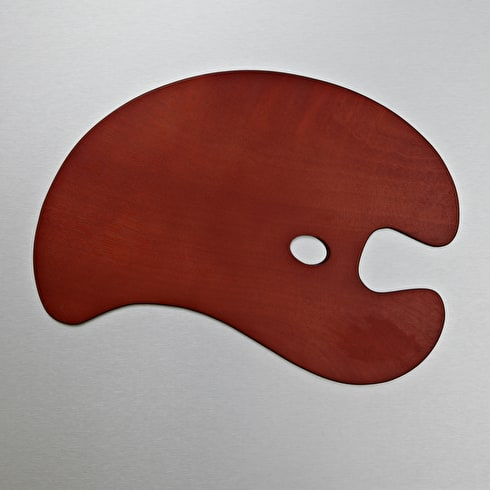 Loxley Wooden Palettes Kidney Shaped   Cass Art