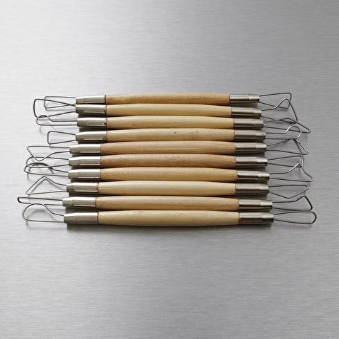 Jakar Wooden Modelling Tools with Wire Tips Set of 10 6 inches