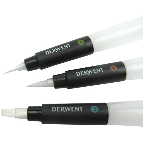 Derwent Water Brush Set of 3 | Cass Art